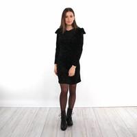 Black cute star dress