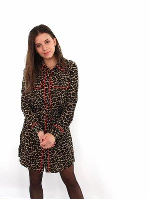 Maraislise Leopard blouse dress