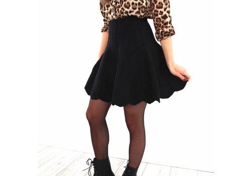 Black cute skirt 6141
