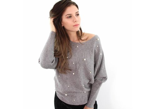 Grey pearl sweater