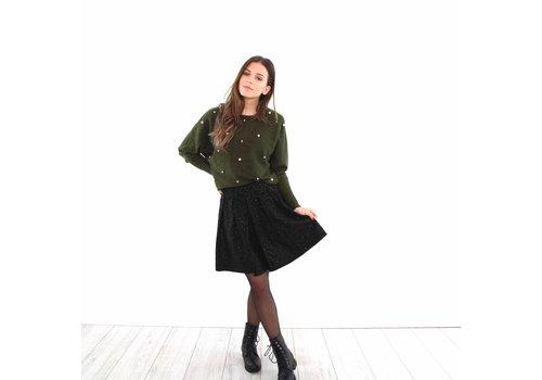 Black suedine star skirt