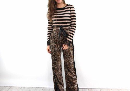Eight Leopard velvet pants