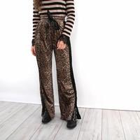 Leopard velvet pants