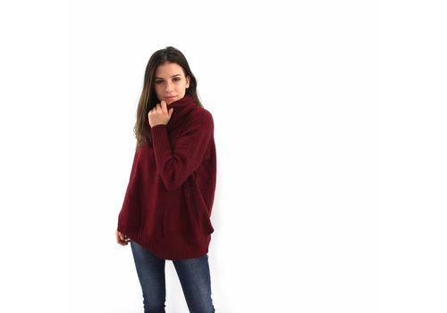 Col sweater Whoo bordeaux