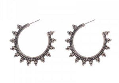Earrings fashionable hoops