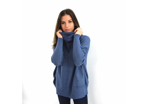 Col sweater Whoo light blue