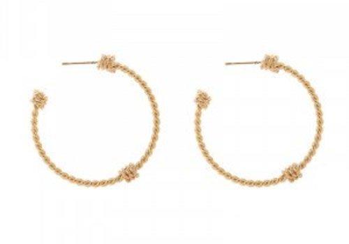Earrings braid creoles