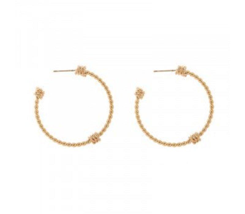 Earrings braid creoles gold 103