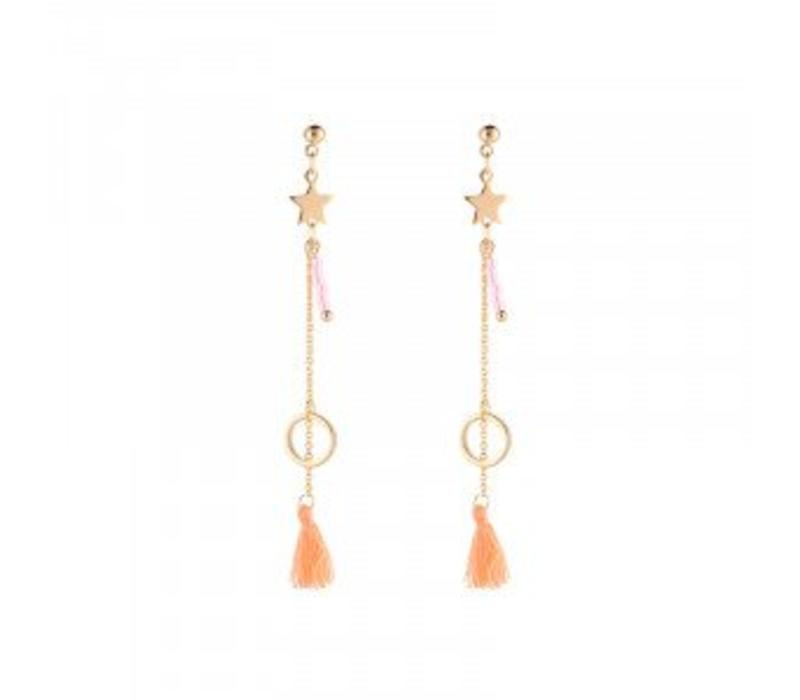Earrings star parade pink 968