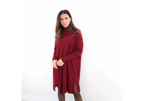 Kilky long sweater dress bordeaux