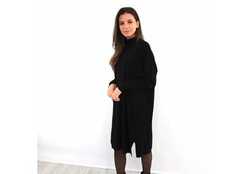Kilky long sweater dress black
