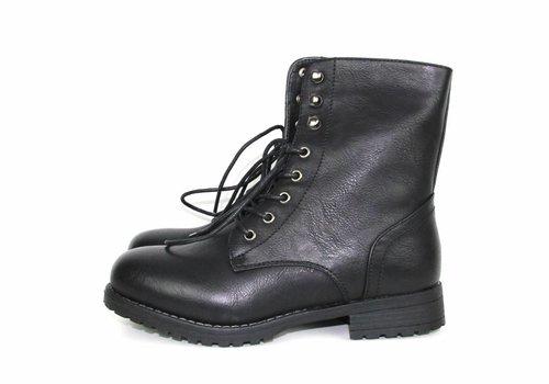Black tough boots