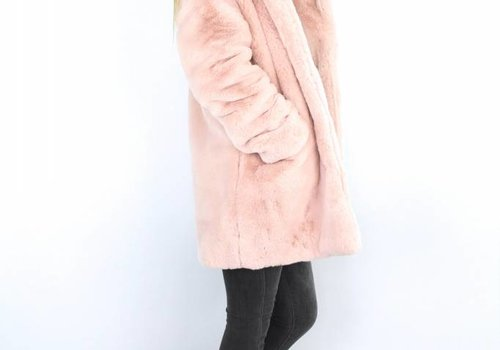 Rose fluffy coat