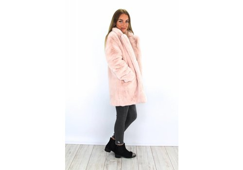 Rose fluffy coat