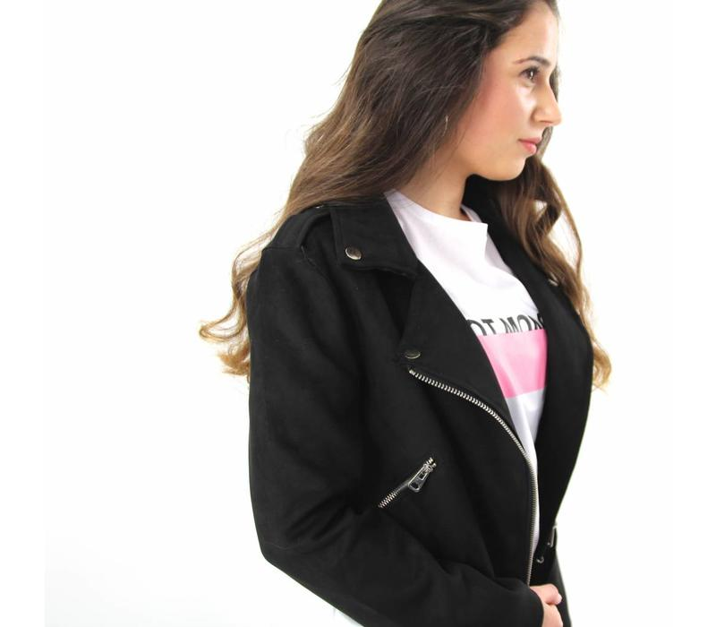 Black suede jacket 9560