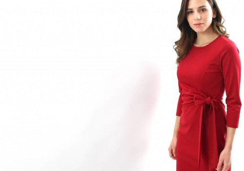 Vintage Dressing Lady in red