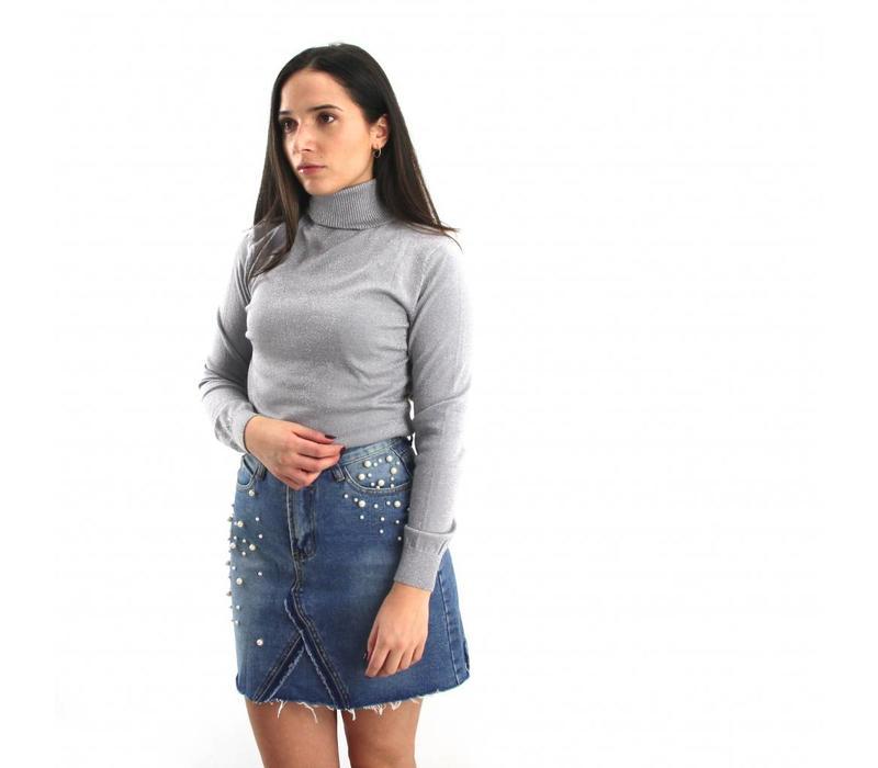 Dreamcatcher denim skirt