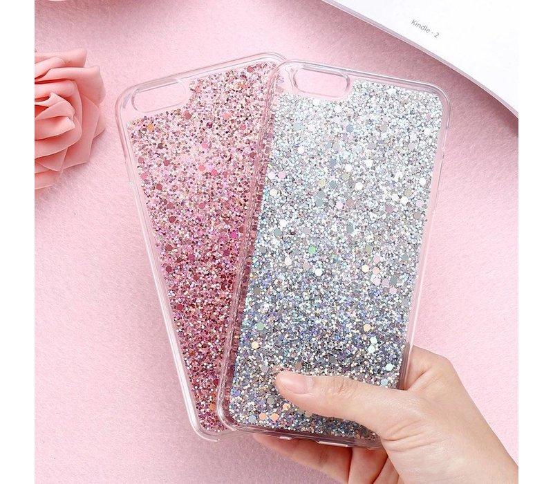 Iphone 7 glitter case silver