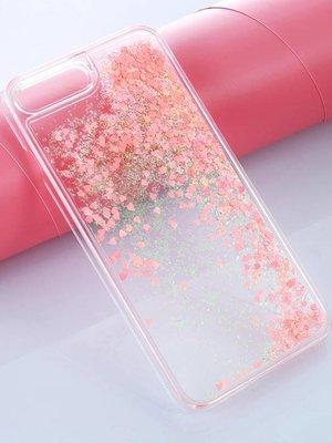 Iphone 7 case hearts glitter