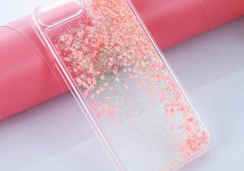 Iphone 7 case hearts glitter