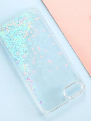 Iphone 8 hearts glitter