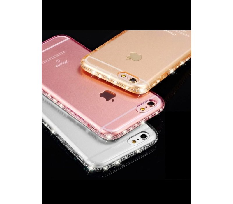 Iphone 7 clear case gold