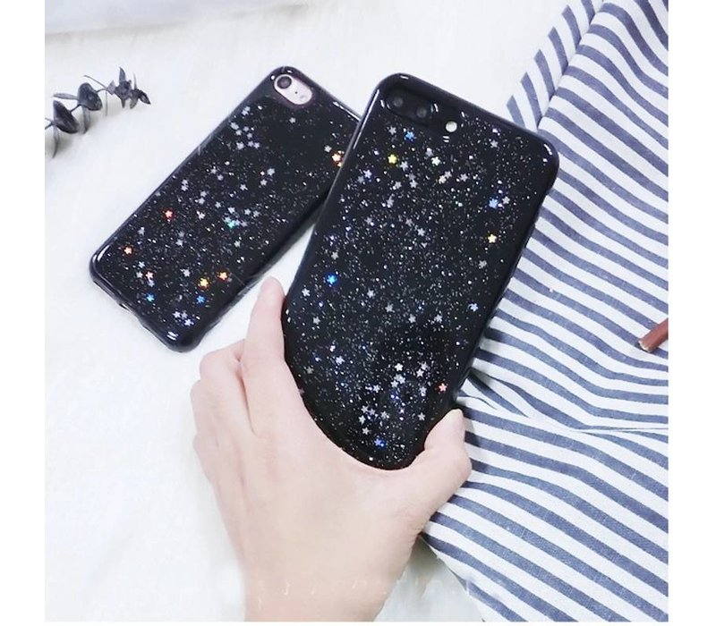 Iphone 6s case black glitter stars