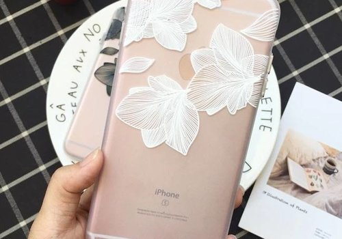 Iphone 7 plus case  flower love