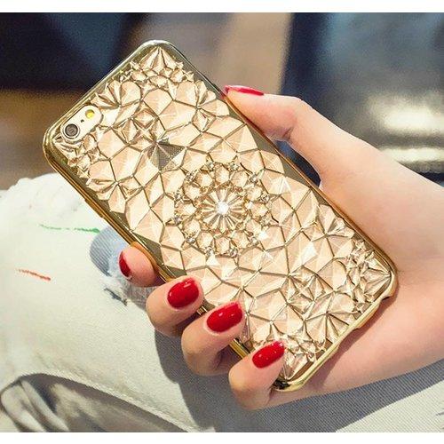 Iphone 6s case gold diamant