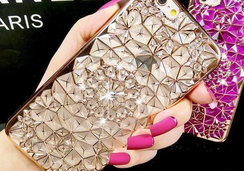 Iphone 6s case rose diamant