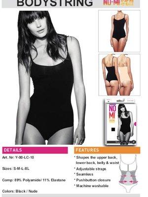 NO-MI bodywear Bodystring NO-MI  black