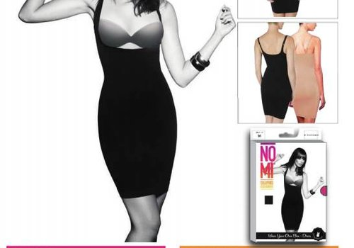 NO-MI bodywear Wear your own Bra Dress  blak