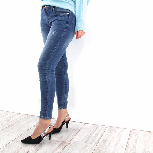 Queen Hearts Pearl Queen jeans