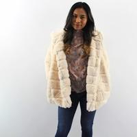 Faux Fur coat beige