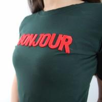 Bonjour t-shirt green