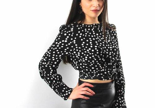Eight Dutch dots black blouse