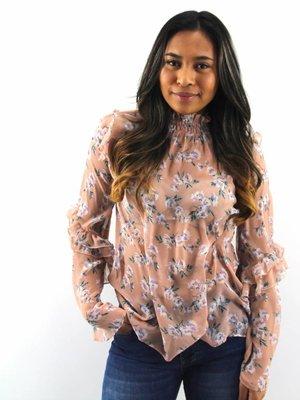 Eight Flower volant blouse