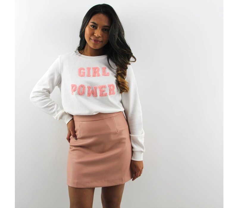 Girl Power sweater white