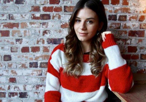 Valentine striped jumper