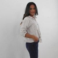 Overdrive blouse beige