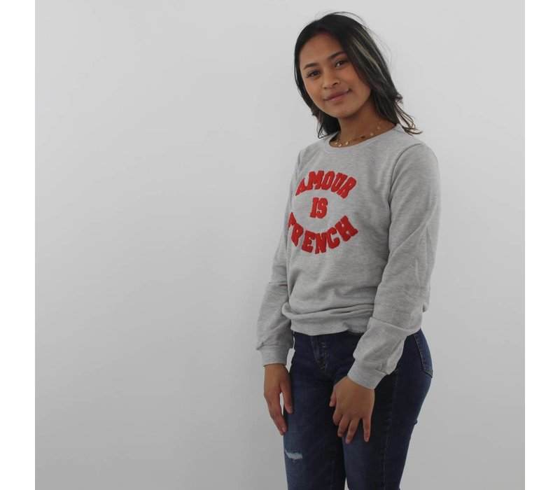 Amour is french sweater grey