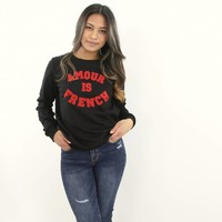 Amour is french sweater black