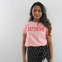 Saturday t-shirt roze