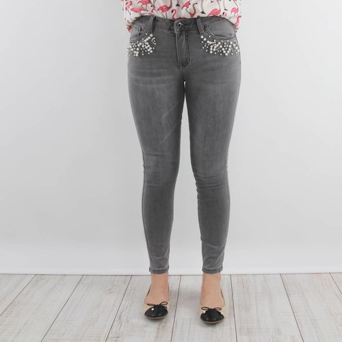 Queen Hearts Made pearl jeans