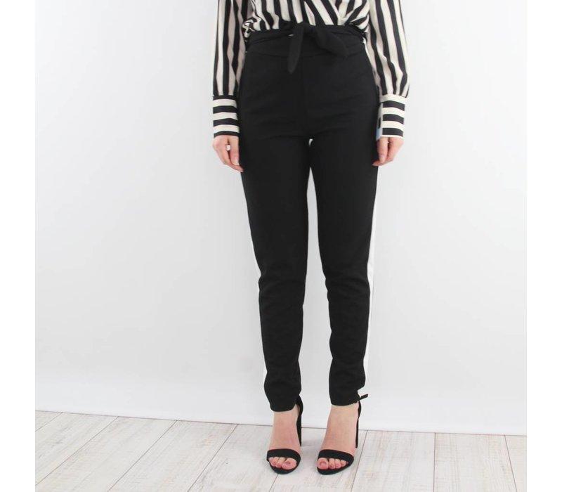 B&W striped pants