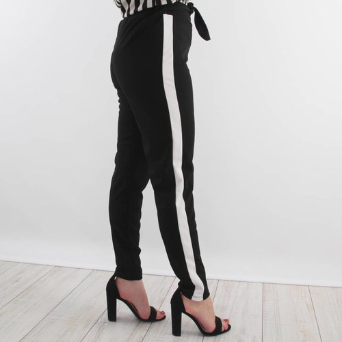 Ladylike B&W striped pants