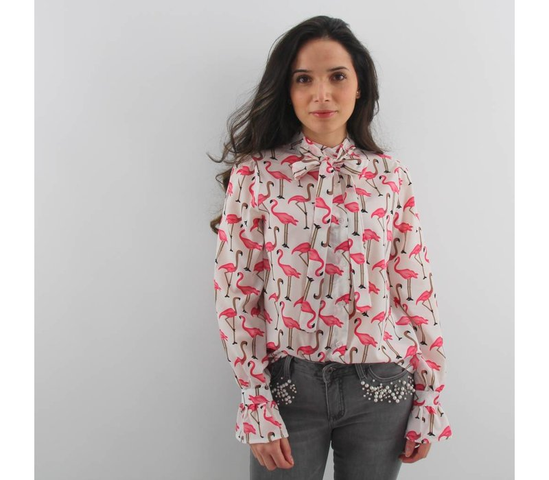 Flamy blouse pink