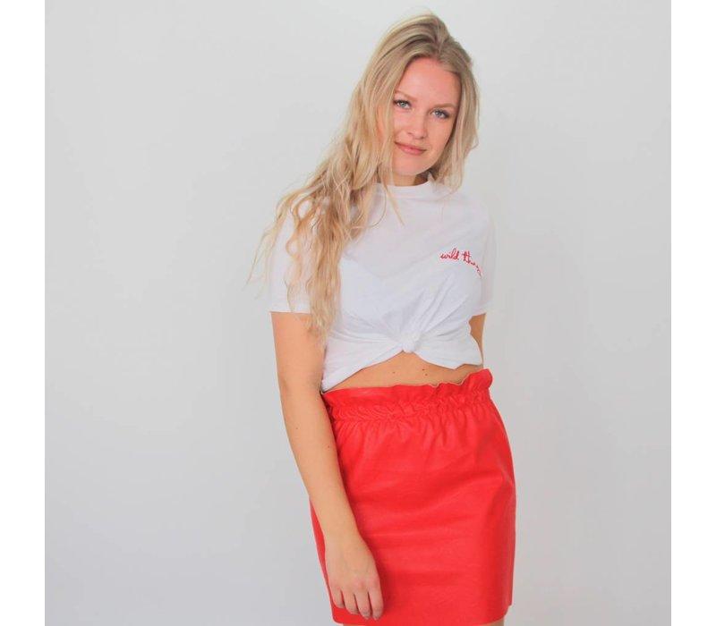 Classy girl skirt red