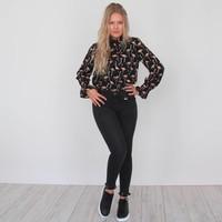 Flamy blouse black