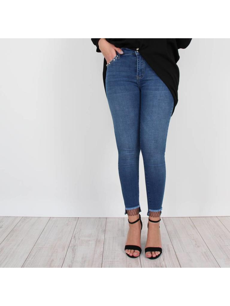Queen Hearts Fishnet jeans